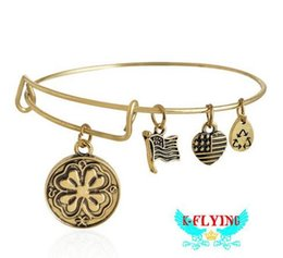 Wholesale Alex and Ani Lucky Clover Expandable Wire Bangle Bracelet quot Bracelet for Women Shapr Assorted