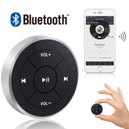 Wholesale Hot Wireless Remote Control Bluetooth Media Button Car Steering Wheel Motorcycle Bike Handlebar for IOS for Android