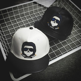 Wholesale 2016 autumn and winter hip hop baseball cap with a face mask of the male and female cartoon graffiti embroidered couple flat along the stree