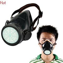 Promotion masque pour les produits chimiques Pop Vaporiser respirateurs Gaz Sécurité anti-poussière chimique peinture aérosol Masque double cartouche Masque réglable Poussières Brumes Fumées métalliques Mask TK1855