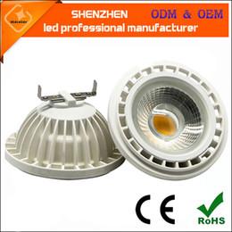 12w 15w ar111 conduit ES111 GU10 lumière AC110V AC220V 12V conduit de lumière spot 24/36 degré ar111 lumière remplacer lampe halogène à partir de lampe halogène 15w conduit fournisseurs