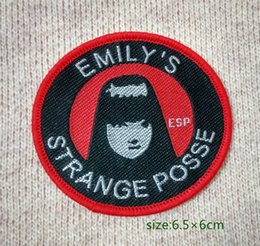 Wholesale Emily The Strange Posse Genuine games Sew On Patch Shirt Trousers Vest Coat Skirt Bag Kids Gift Baby Decoration