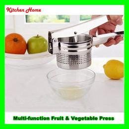 Wholesale Kitchen Fruit Press - Multi Functional Vegetable Puree Fruit Juicer Potato Garlic Presser Maker Stainless Steel Kitchen Potato Masher Ricer Big Size