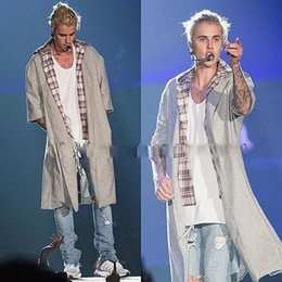 Wholesale Fashion Men s Coat New wool jacket Justin Bieber Fear Of God High Street Wool Coat
