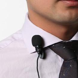 Wholesale 30Hz Hz Mini mm Tie Lapel Lavalier Clip On Microphone for Lectures Teaching