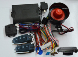 one way car alarm system is with ultrasonic sensor,motion alarm system,big sound siren,power off memory,remote trunk release