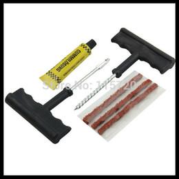 Wholesale-Free shipping Car tire repair tool kit,vacuum tyre repair, Tyre Puncture Plug tool