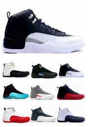 Wholesale New Hot Cheap Original Retro Men Basketball Shoes White TAXI Flu Game gamma blue Playoff flint French Blue Athletics Sport Sneaker Boots
