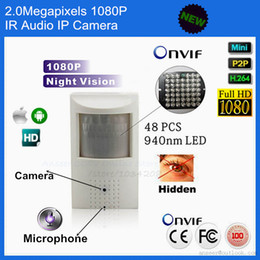 Camera ip ir cachée en Ligne-Full HD 1080P Sécurité Pir Network Camera Audio Covert / Nightvision PIR IR Caméra IP Mini PIR Détecteur de mouvement Hide Pinhole Camera