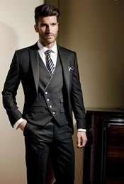Free shipping wedding suits for men Three piece Suit men suit male suit men suits for wedding Black Unique design custom mens suit