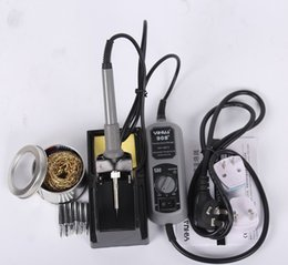YIHUA 908 + 60W Fer à souder électrique Solder Station Thermostat réglable Mini fer à repasser de réparation Outils de réparation + 6pcs Iron Tips à partir de mini-station de soudage fabricateur