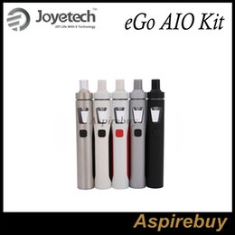 Wholesale Joyetech EGo AIO Quick Start Kit All in one Style Device with With mAh Battery and ml e Juice Capacity e Liquid illumination LED Light
