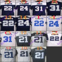 Wholesale 2016 Elite Football Stitched Cowboys Draft Ezekiel Elliott Smith Jones Claiborne White Blue Thanksgiving Jerseys Mix Order