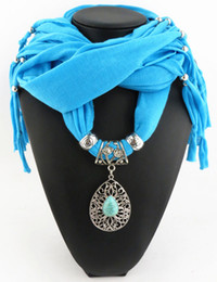 Newest Cheap Fashion Women Scarf Direct Factory Latest Jewelry Tassels Scarves Women Turquoise Drop Scarves Shawl From China