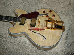 NEW Custom Electric Guitar Natural Hollow 335 Jazz Guitar Free Shipping