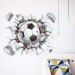 Mode 3D Football Autocollant Mural Décor bricolage Football Décoration étanche Art Moderne Decal Wallpaper For Living Chambre à coucher à partir de mode décor de mur d'art fabricateur