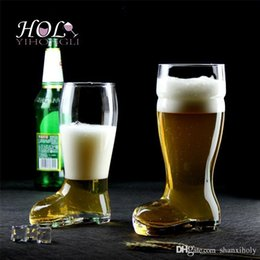 Wholesale Best Quality handmade large beer boot glass cup