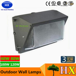 Wholesale UL DLC Approve Outdoor LED Wall Pack Light W W Industrial Wall Mount LED Lighting Daylights K AC V With Mean Well Driver