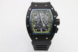 Regarder bracelet en caoutchouc noir à vendre-Man R M 011 montre à quartz caoutchouc Bracelet noir en acier inoxydable Boîtier vert à bord ...