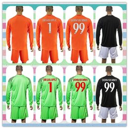 Wholesale New Product Uniforms Kit AC Milan Soccer Jersey DONNARUMMA DIEGOLOPEZ Green Black Orange Long Sleeve Goalkeeper Jerseys