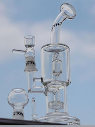 Wholesale Bong High quality TORO glass bong quot inches two function tire perc with splash guard perc have nail dome bowl mm joint