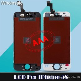 Wholesale Tianma LCD Display Digitizer For iPhone S Touch Screen Smart Cell Phone LCD full assembly Replacement parts Screen For iPhone S free dhl
