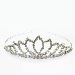 Wholesale 2016 Baby Girls Rhinestone Tiara Headdress Children Hair Jewelry Crown Combs Headear Exquisite Accessories Manufacturers pc