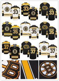 Wholesale Mens Boston Bruins Zdeno Chara Anton Khudobin Patrice Bergeron Hockey Jerseys Name and Number All Stitched Logos