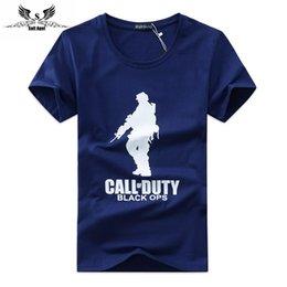 Wholesale new men s cotton T shirt private men s fashion leisure sports T shirt S XL tees CALL DUTY