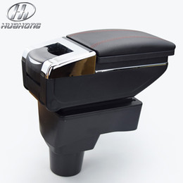 Wholesale Car armrest central Store content Storage box with cup holder ashtray accessories for Chevrolet Aveo Sonic Lova