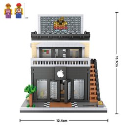 Apple Store LOZ Nanoblock Building Block Toy bricks kit assemble model DIY creative gift minifigure for kid