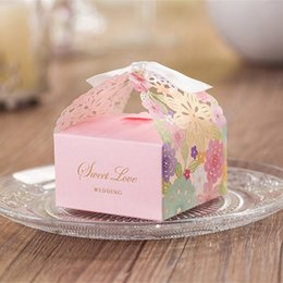 Wedding Favor Boxes Laser Cut Paper Favor Holders Boxes Flower Wedding Candy Box Wedding Paper Laser Chocolate Gift Box Wedding Supplies