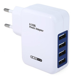 Wholesale Hot EU And US Plug Universal USB Ports AC Power Home Travel Wall Power Supply Adapter Charger For iPhone For iPod B