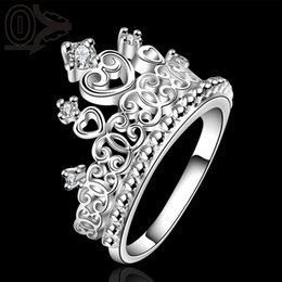 Wholesale Fashion Jewelry Rings Hot Sale Silver Ring Fashion Sterling Silver Jewelry championship crown Ring SMTR629 ring pouch