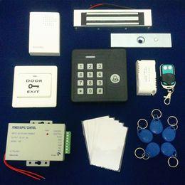 Wholesale Full Set Electric RFID Door Lock Access Control System Kit Waterproof Controller kg Magnetic Lock Power Supply Remote Rfid Keys