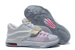 Wholesale Drop shipping KD7 SE EP What The KD Aunt Pearl All Star KD7 Men Basketball Sport Shoes