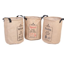 Wholesale ZAKKA Home Hamper Laundry Bag Basket Storage Clothing Washing Bin Sorter Organizer Cotton Linen Sorter Bag Toys Clothes Basket LJJK489