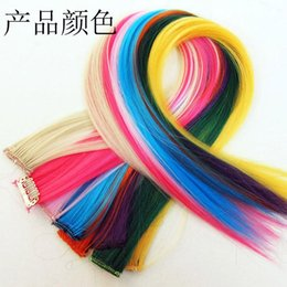 Wholesale 2016 HOT cos explosion models in Europe and America Harajuku punk colored streaked piece hair piece real hair piece European style HOT