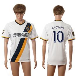 2016-2017 LA Galaxy Home White #10 GIOVANI Soccer Jersey Top Thai Quality Soccer Shirts Mens Soccer Jerseys Cheap Custom Football Jerseys