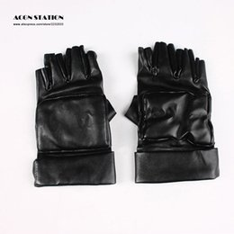 Wholesale Axis Powers Hetalia Black Leather Gloves Cosplay Gloves Accessories