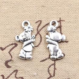 Wholesale 150pcs Charms bear mm Antique Making pendant fit Vintage Tibetan Silver DIY bracelet necklace