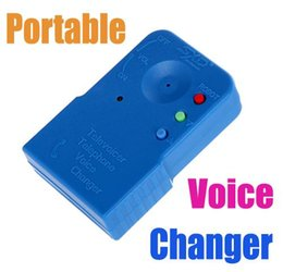 Wholesale Portable Hand held Cordless Fun Voice Changer Disguiser for Telephone Mobile Phone Televoicer Transferring Electronics Gadgets H4306