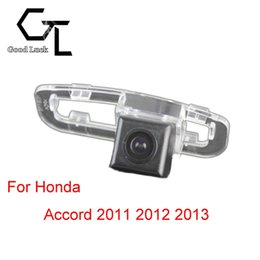 For Honda Accord 2011 2012 2013 Lighting hole Wireless Car Auto Reverse Backup CCD HD Rear View Camera Parking Assistance