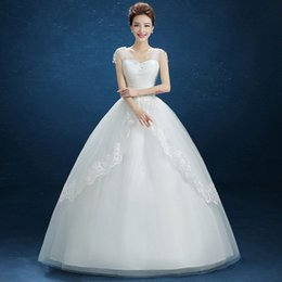 Wholesale Autumn New Korean Simple Wedding Dress Show Thin Shoulders Qi Word Shoulder Bride Married Wedding Dress B