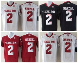 Johnny maillots manziel en Ligne-Le plus récent 2 Johnny Manziel Jersey Texas Aggies Football Maillots Johnny Manziel Rouge Blanc Team Couleur Mode Tous Stitched Livraison gratuite