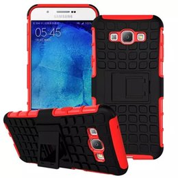 Wholesale For Samsung Galaxy A8 Case Ballistic ARMOR Wave Hybrid Durable Dual Soft Silicone Hard PC Stand Back Case ShockProof Cover For Samsung A8000
