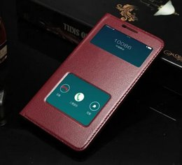 Hot Sale For OPPO R9 Plus Case Ultra-Thin Hard PC Cover Luxury Colorful Protective Flip Window Genuine Leather Case For OPPO R9 Plus