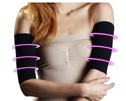 Wholesale Waist training corsets Thin arm grain type sets Pressure Fat Burning Stovepipe socks Series Beam arm Shapers