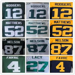 Wholesale Aaron Rodgers Eddie Lacy Jordy Nelson brett FAVRE Randall Cobb Clay Matthews Davante Adams elite football jersey