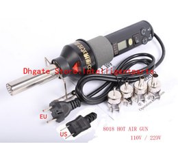 Wholesale 220V W Soldering Station LCD Adjustable Electronic Heat Hot Air Gun Desoldering IC SMD BGA Rework Nozzle LCD